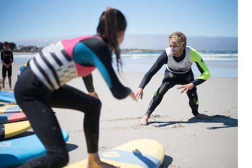 colonie de vacances et surf sur les plages de penmarch